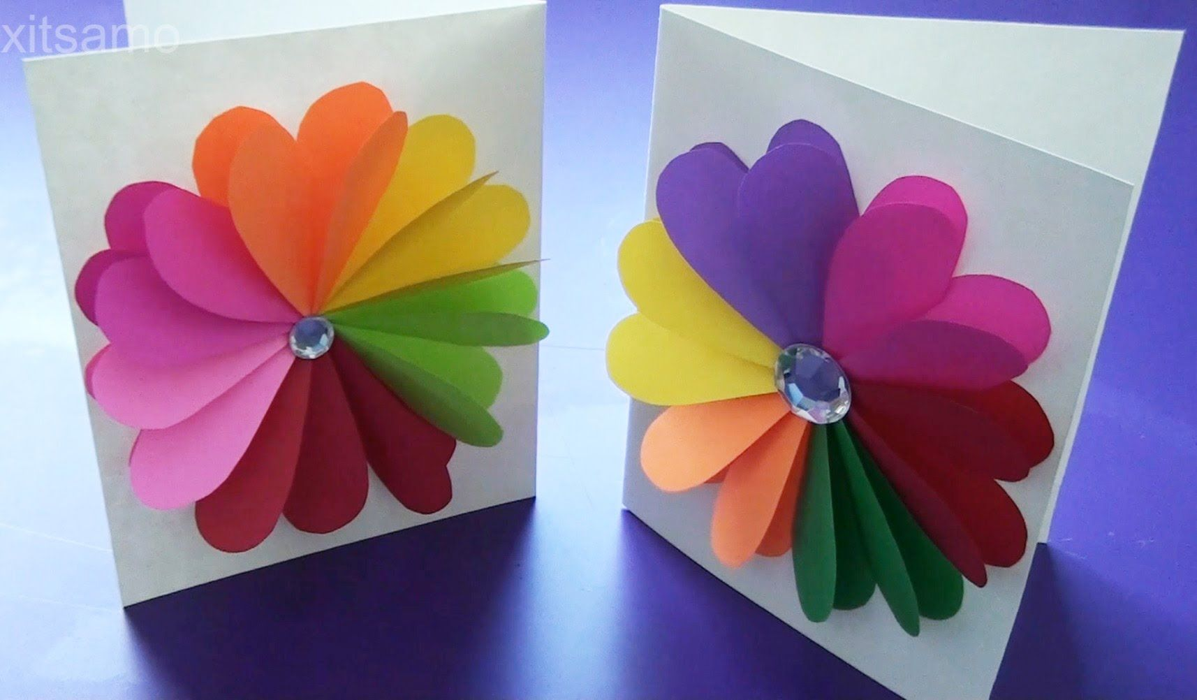 Diy Easy Handmade Greeting Cards How To Make Paper Cards