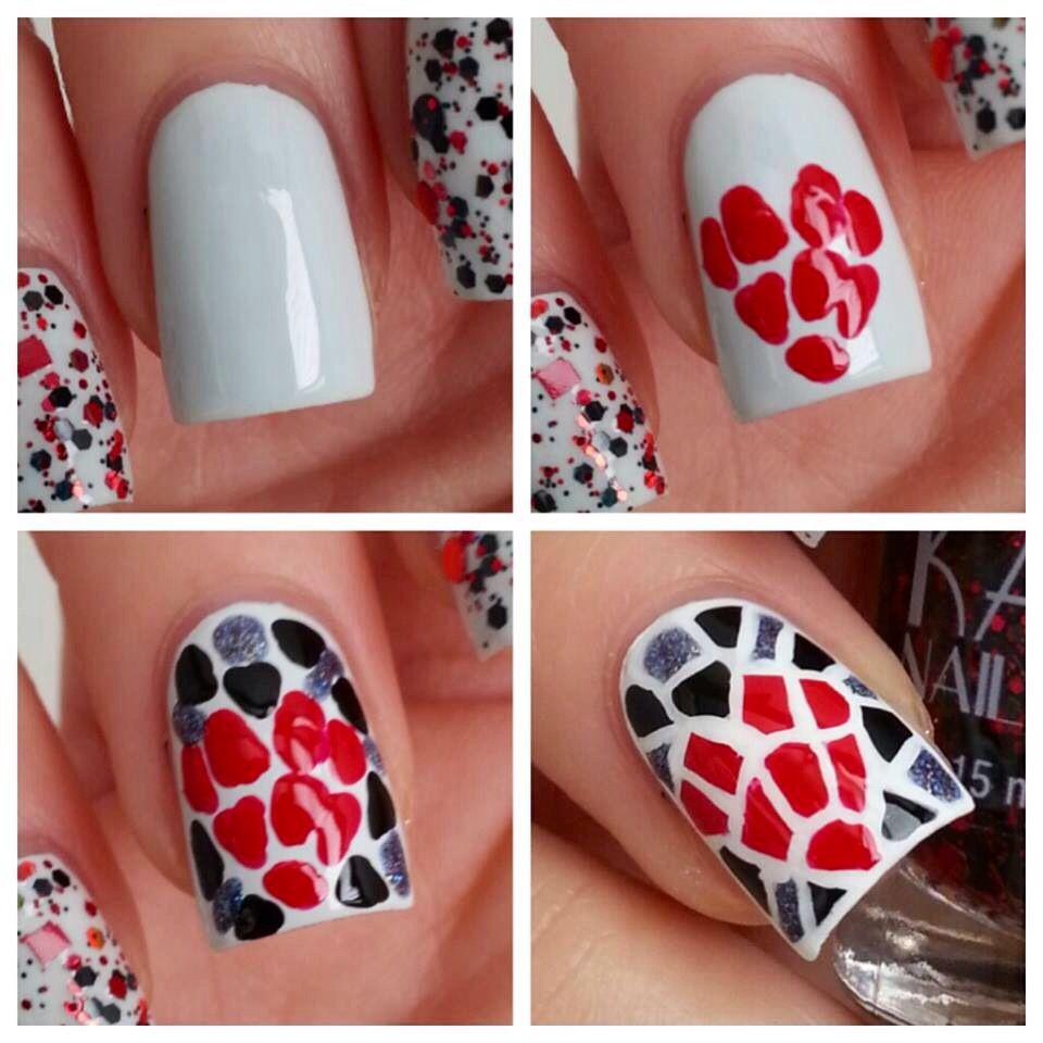 Mosaic heart nail pictorial runningwithlacquer check out them