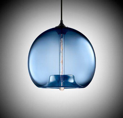 Blue glass ceiling light vintage chandelier pendant edison lights blue glass ceiling light vintage chandelier pendant edison lights lamp amazon aloadofball Gallery