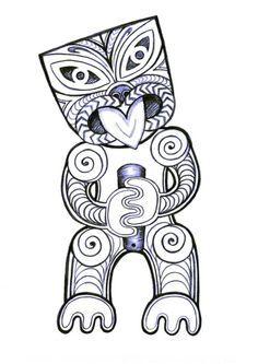 image result for how to draw a maori tiki calendar art auction art ideas pinterest maori. Black Bedroom Furniture Sets. Home Design Ideas