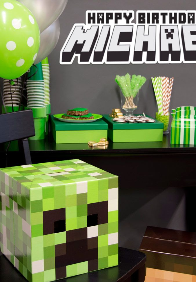 Minecraft Party Ideas Minecraft party ideas Birthdays and Kids
