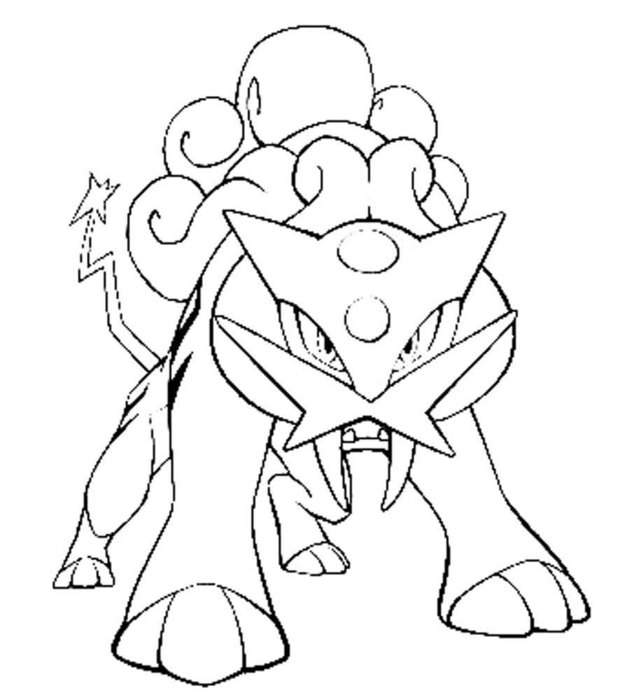 Raikou Pokemon Coloring Pages Pokemon Coloring Pages Pokemon