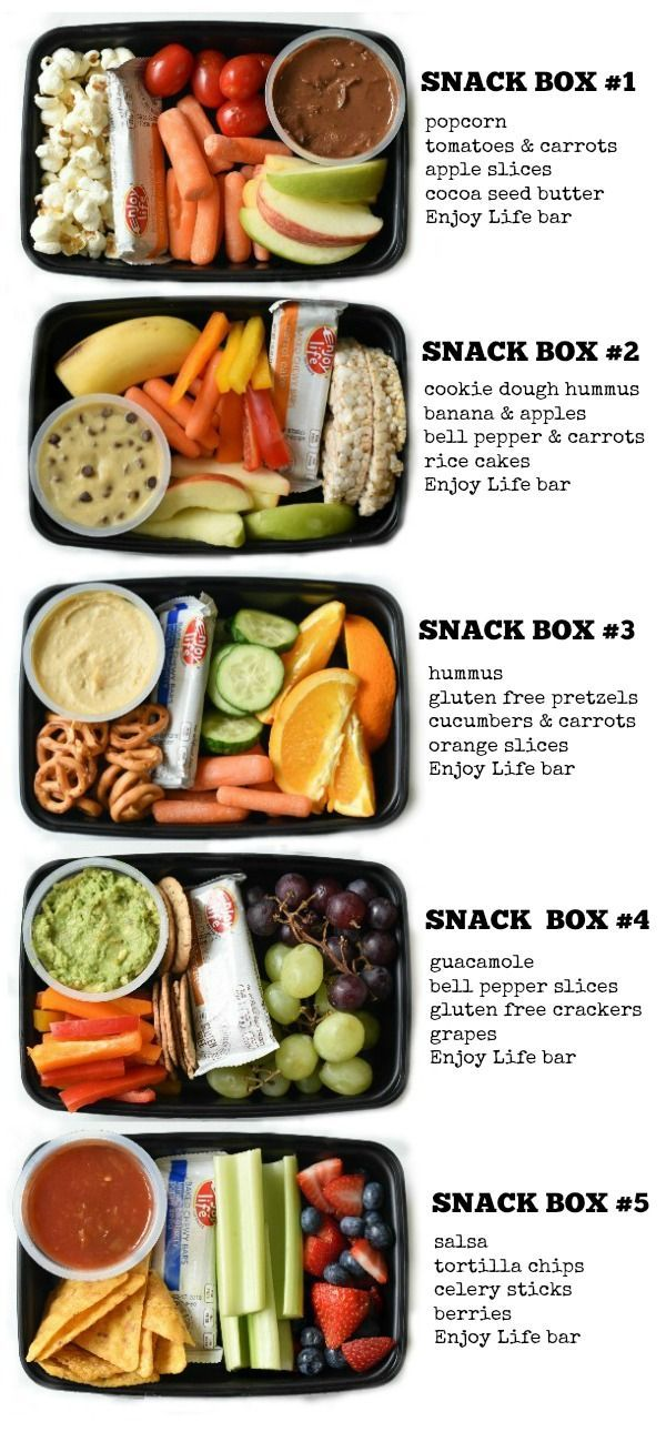 Kids Snack Bento Boxes - Fork and Beans