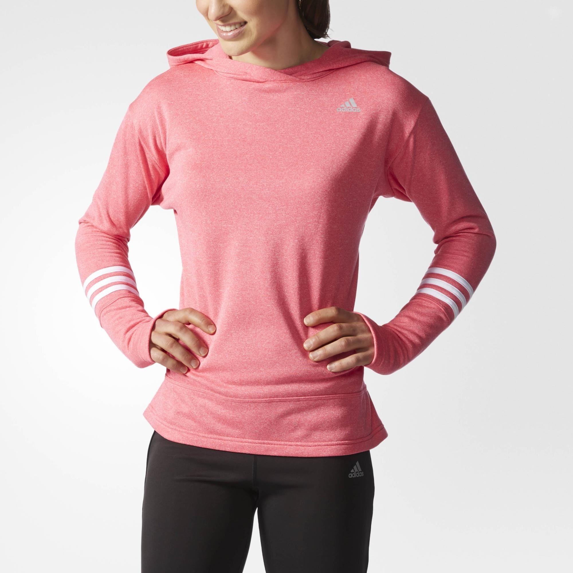 adidas Sudadera con Gorro para Correr Response Icon Mujer - Pink ... fbe0e742833af