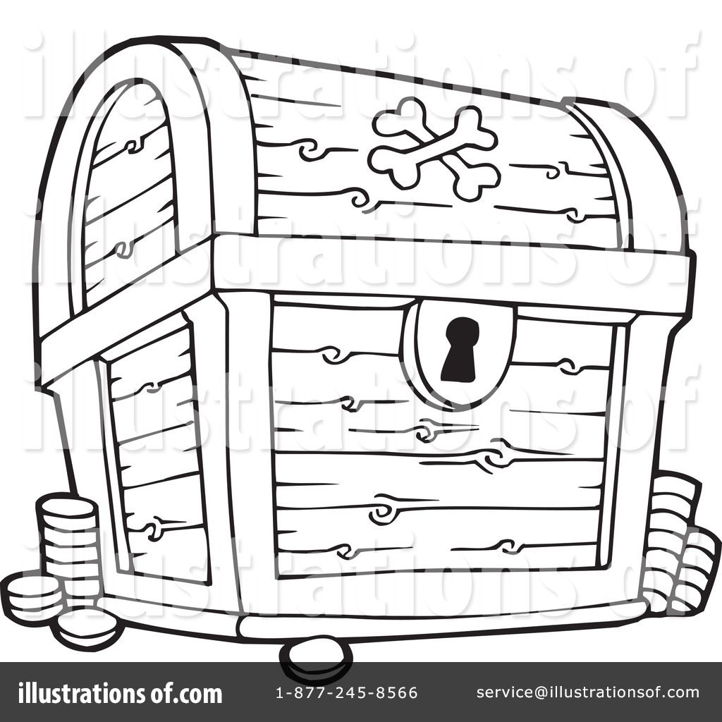 treasure chest lock coloring pages - photo#6