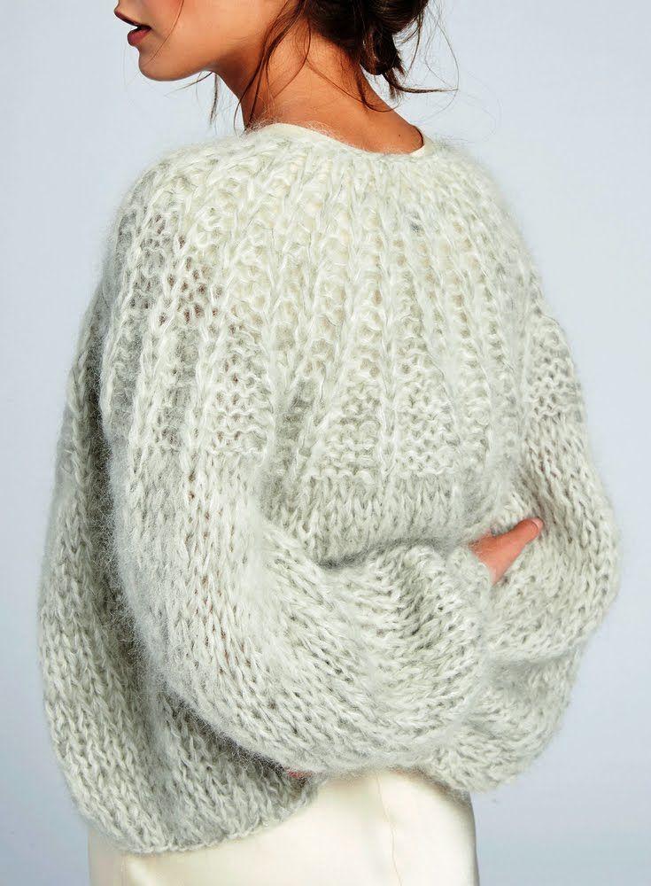 cae64442 Must-Have: Maiami Mohair Pleated Cardigan   Strikk   Strikkeoppskrift genser,  Strikking og hekling og Genser