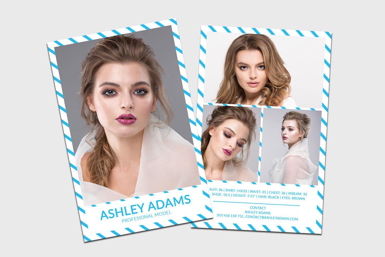 modeling comp card model agency zed card photoshop. Black Bedroom Furniture Sets. Home Design Ideas