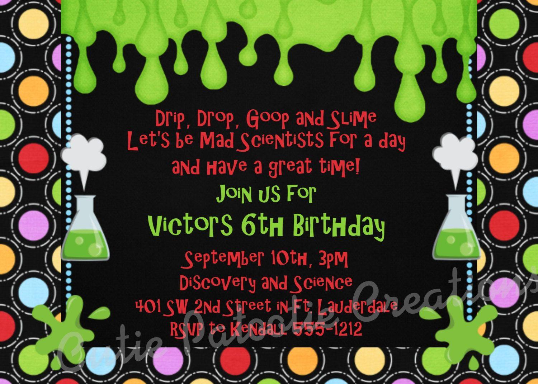Mad Science Birthday Invitation Mad Scientist Birthday Party ...