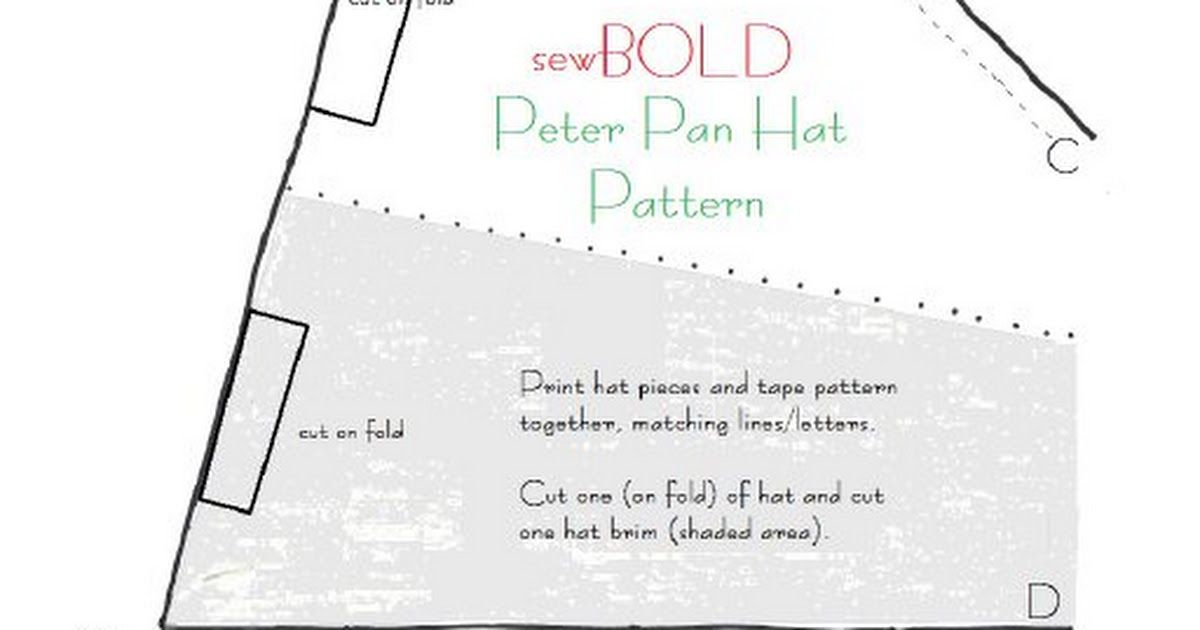 graphic regarding Peter Pan Hat Pattern Printable known as peter pan hat routine.pdf Costuming Guidelines within just 2019