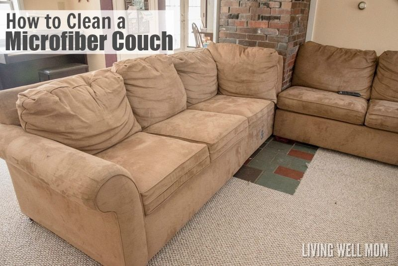 How to clean a microfiber couch and remove pen marker
