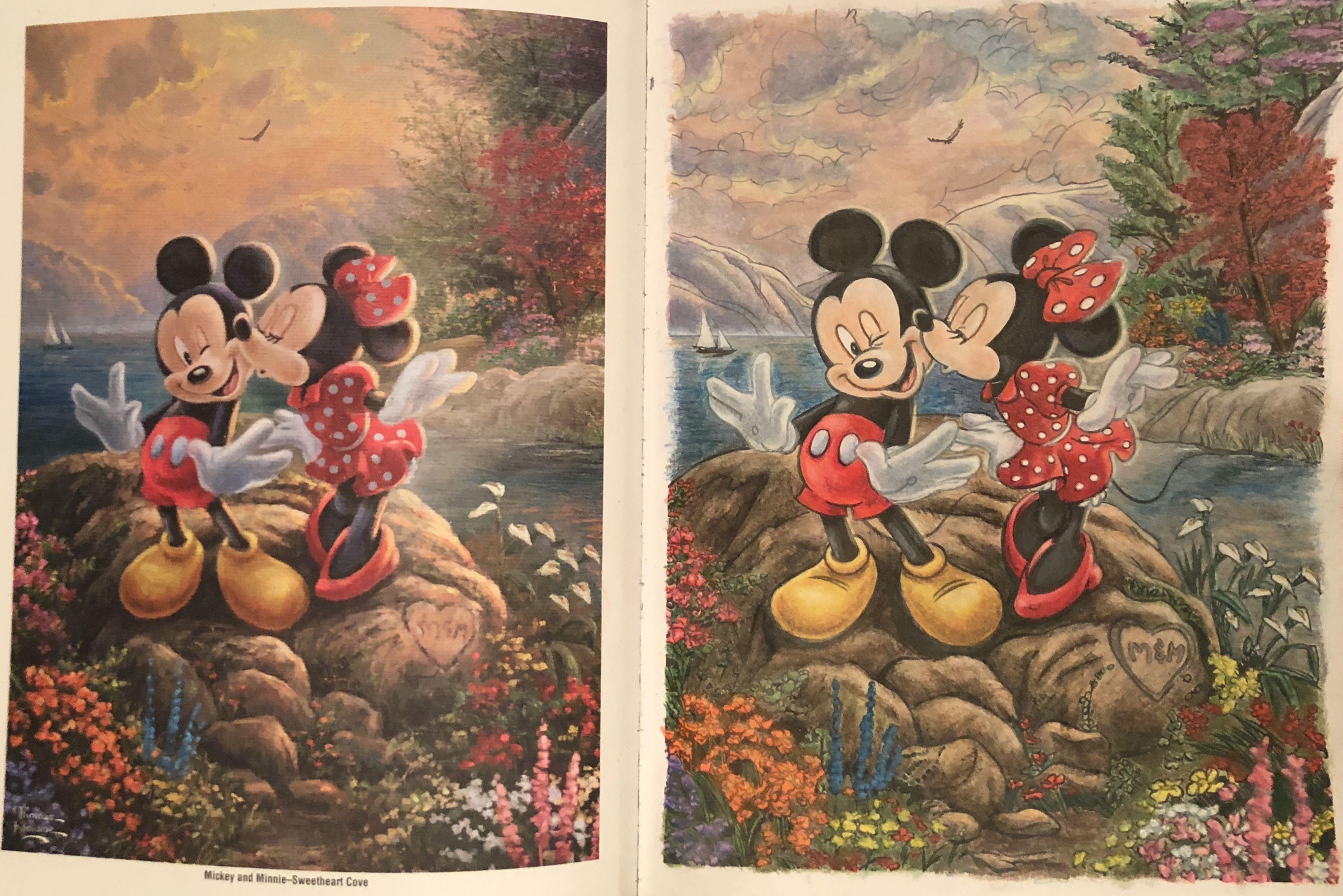 Disney Dreams By Thomas Kinkade Coloring Book Prismacolor And