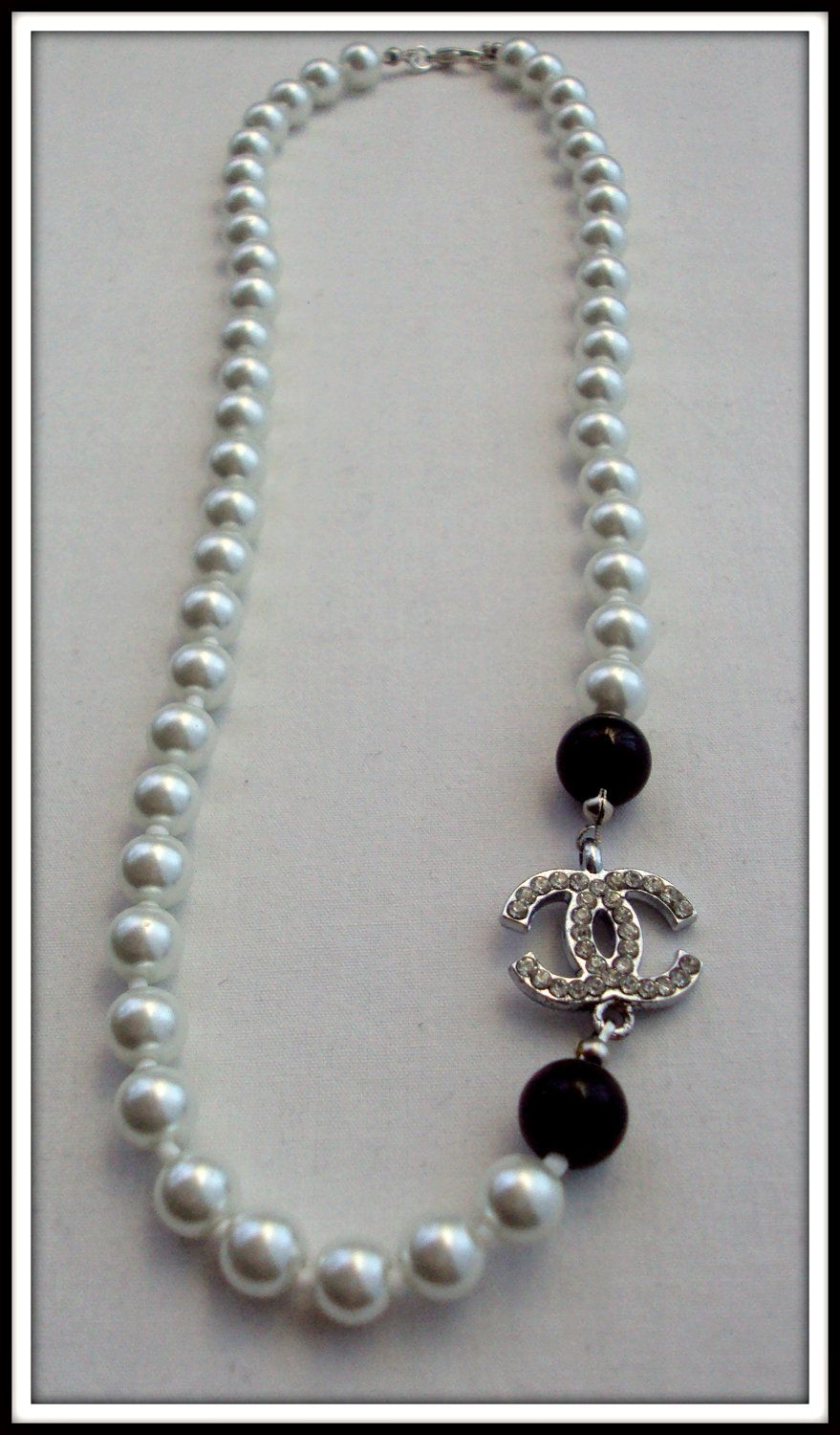 Coco Chanel Pearl Necklace, Elegant Chanel CC Jewelry by ...