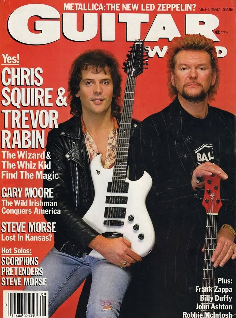 Trevor Rabin Chris Squire Guitar Magazine With Images Chris