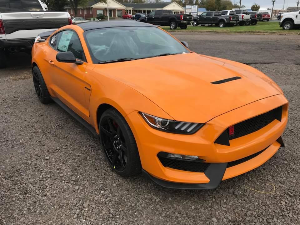 2018 Shelby Gt350r In Orange Fury Without 2018 Mustang Front