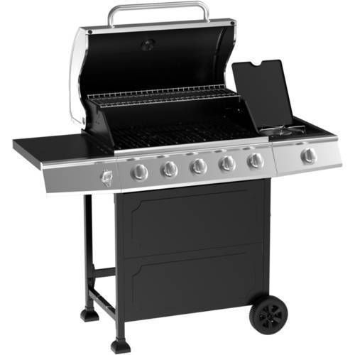 Outdoor BBQ Gas Grill 5 Burner Stainless Steel Backyard ...