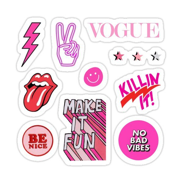 Pink And Red Sticker Pack Sticker by ansley-c