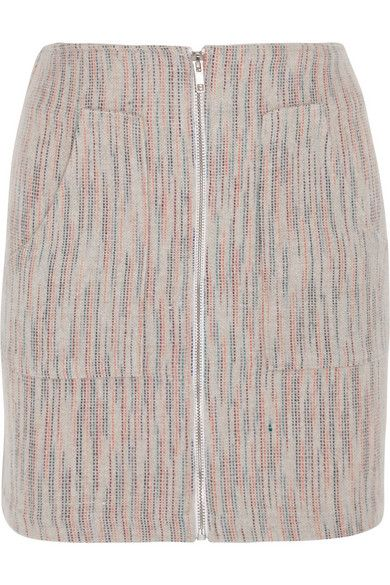 The Elder Statesman | Woven cashmere mini skirt | NET-A-PORTER.COM