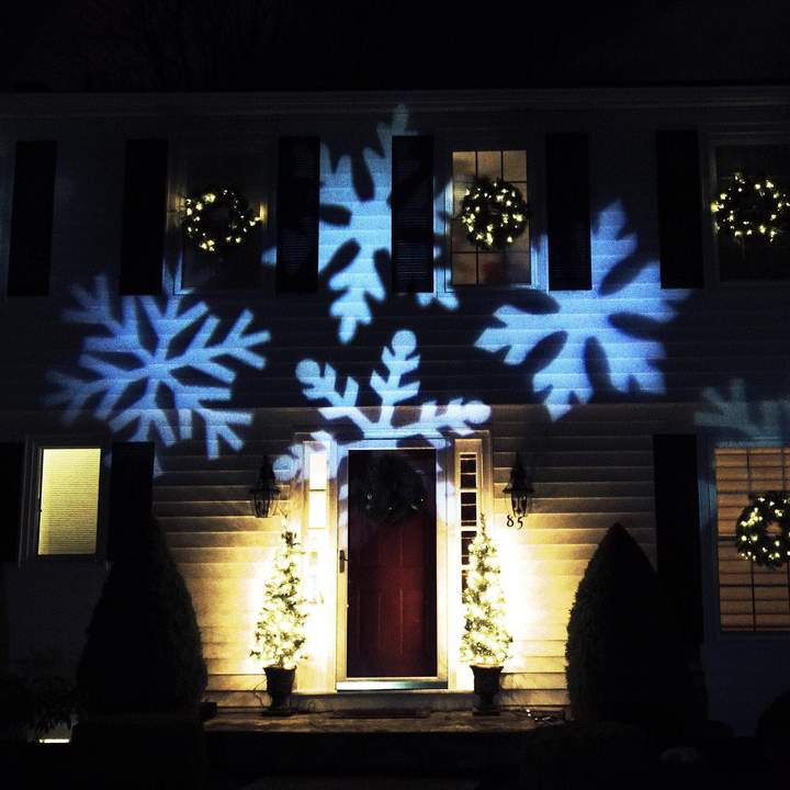 Northlight LED Snowflake Projector Light  Remote 4-piece Set in