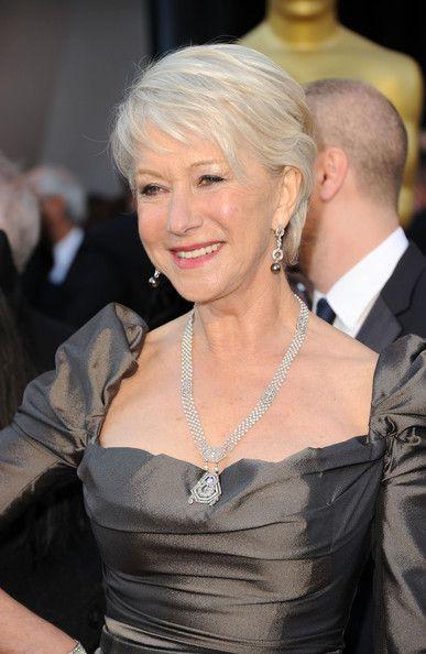 Helen Mirren Photos Photos 83rd Annual Academy Awards Arrivals Helen Mirren Hair Short Grey Hair Short Hair Styles