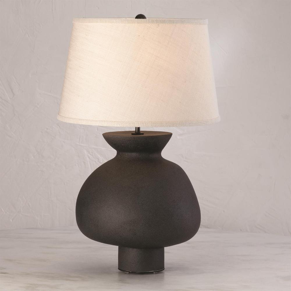 Casis Lamp Matte Black Lamp Ceramic Lamp Matte Black