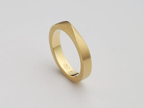Man Wedding Band Twisted Gold Ring Male Wedding Ring Etsy Mens Wedding Rings Mens Wedding Bands Classic Wedding Rings