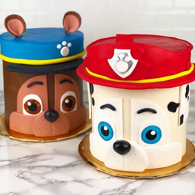 "Photo of dbakers SWEET STUDIO on Instagram: ""Chase and Marshall cakes 😍😍 . .. ……"