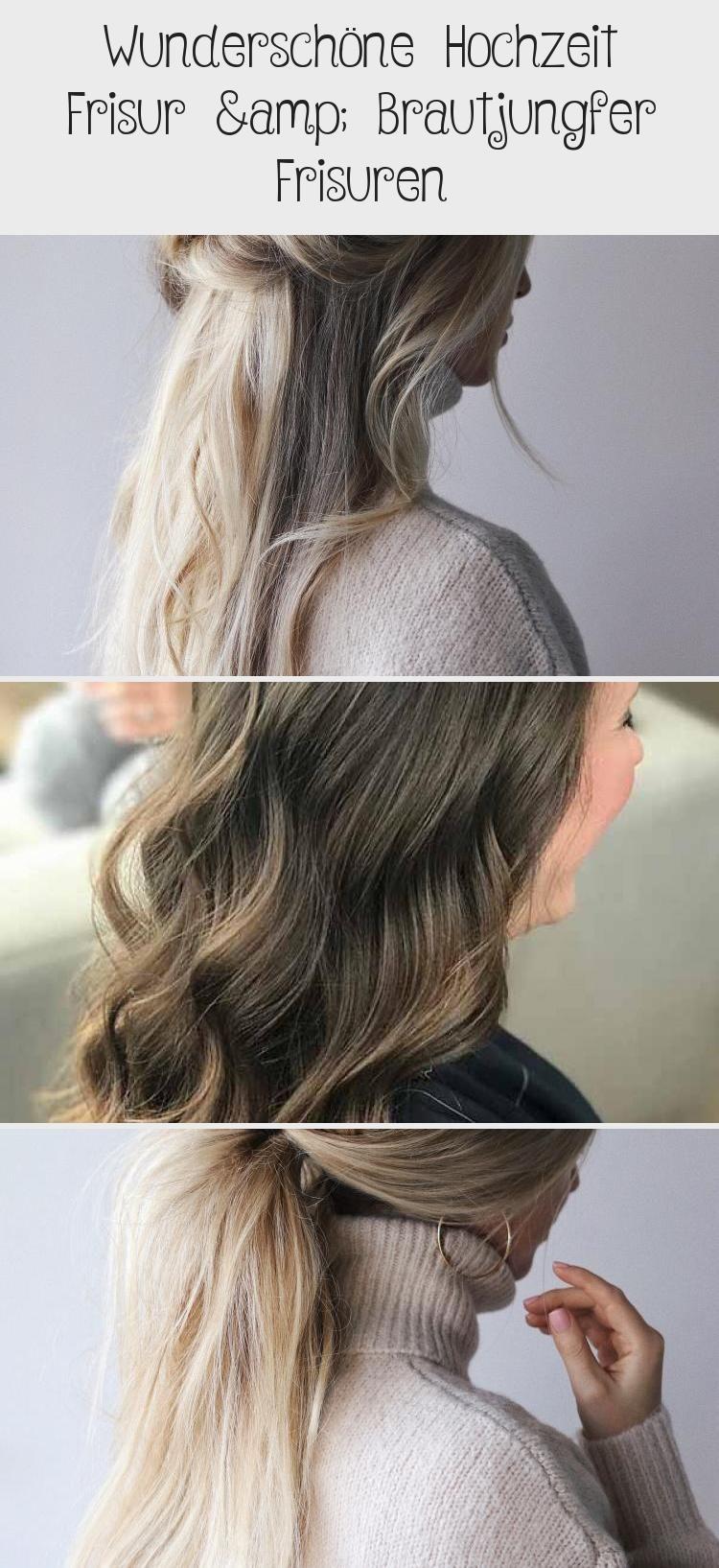 Wunderschone Hochzeit Frisur Brautjungfer Frisuren Hairstyle Hair Hair Styles