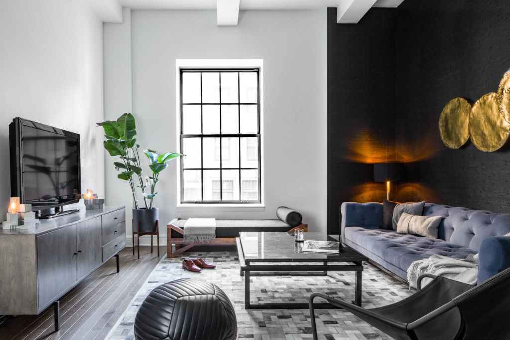 A Suave And Sophisticated West Village Bachelor Pad Bachelor Pad Living Room Apartment Interior Design Bachelor Pad Decor