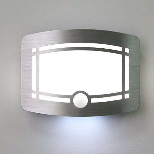 Luxury aluminum case wireless stick anywhere battery powered motion luxury aluminum case wireless stick anywhere battery powered motion sensor lights wall sconce spot audiocablefo