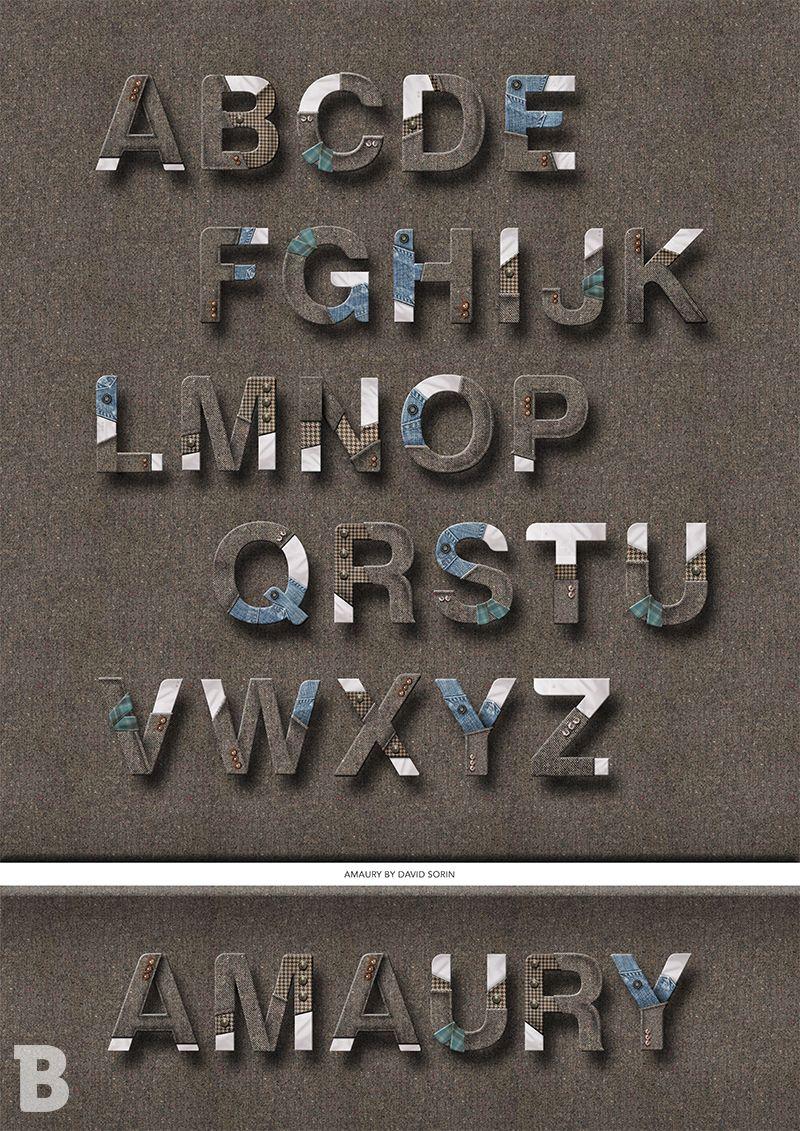 3A - Création d'un alphabet - @ David Sorin