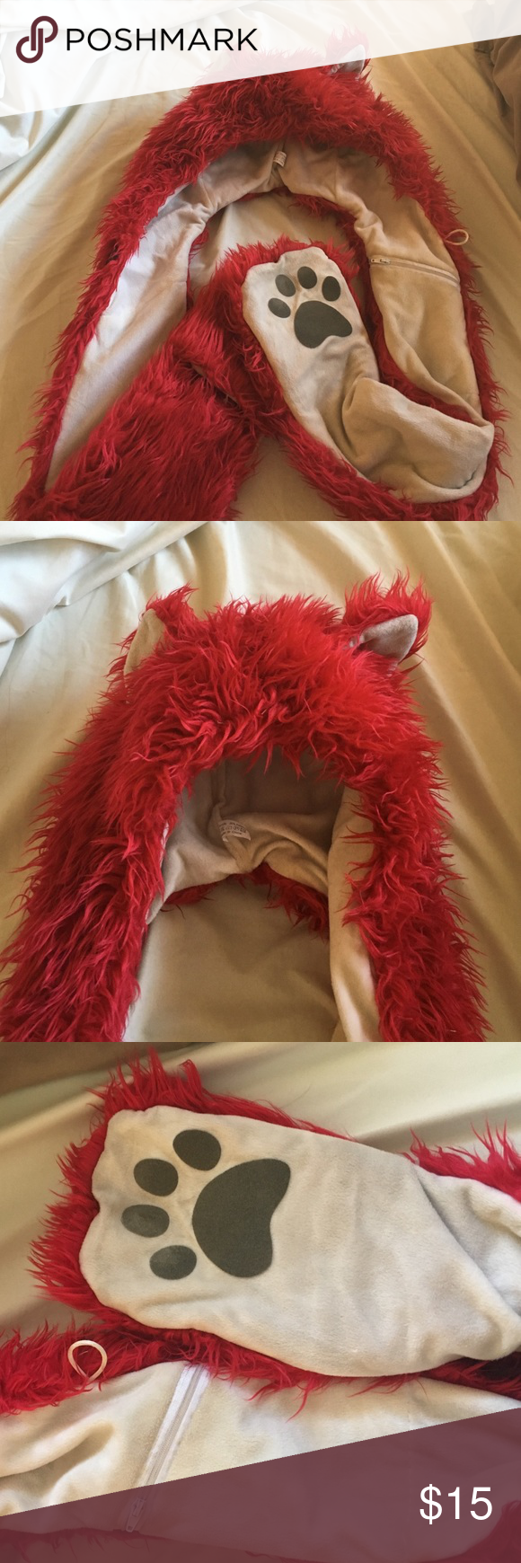 Red iheartraves spirit hood Red iheartraves spirit hood. Lightly used. Will wash upon purchase. Perfect condition. Iheartraves Accessories