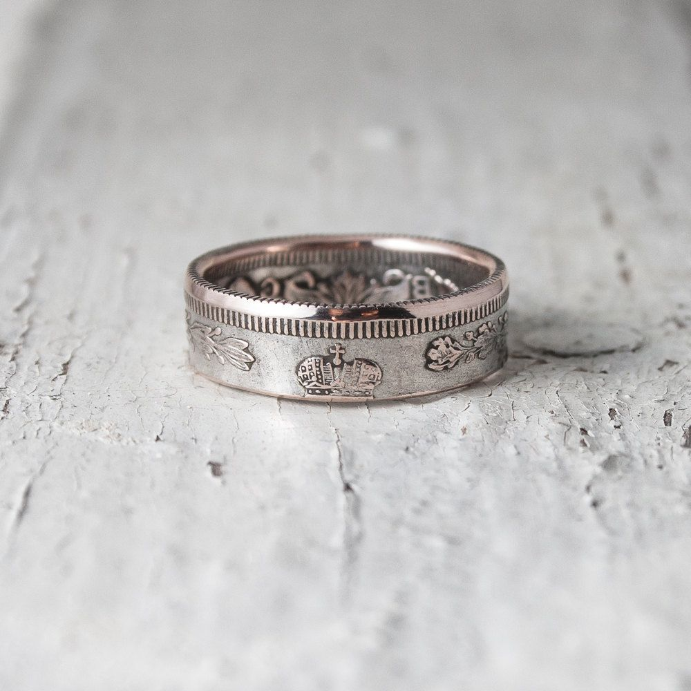 Silver Coin Ring Russian Empire Antique Classic Upcycled