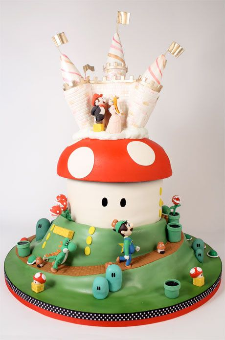 Super Mario Wedding Cake Charm City Cakes Geekin Out Cake