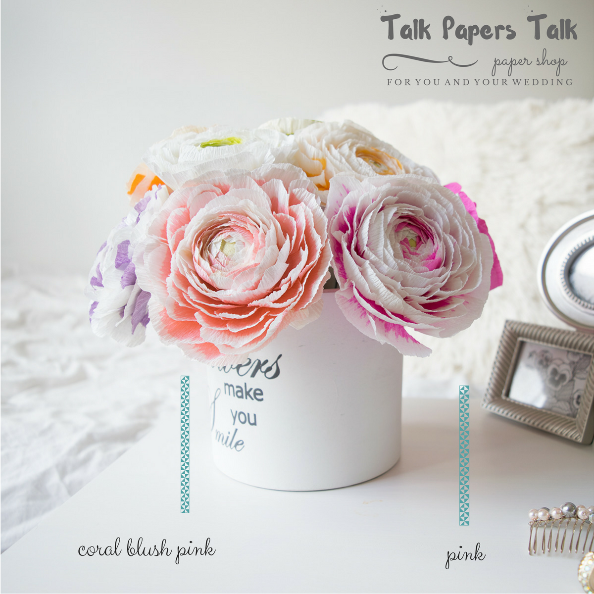 Wedding decorations using crepe paper  Crepe paper ranunculus  paperflowershop  paperflowers