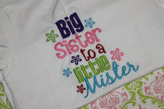 Big Sister to a Little Mister Shirt by RuffledRoseBowtique on Etsy, $18.99