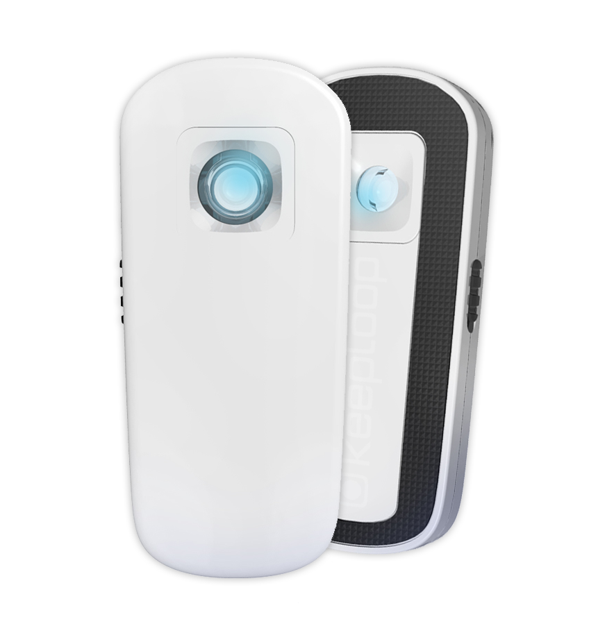 KeepLoop, mobiilimikroskooppi, 89 €. Käytä älypuhelimessa, tabletissa tai läppärissä. Tarkkuus millimetrin sadasosia. Pieni ja kevyt, paino 39 g.  Heureka Shop, 2. krs.