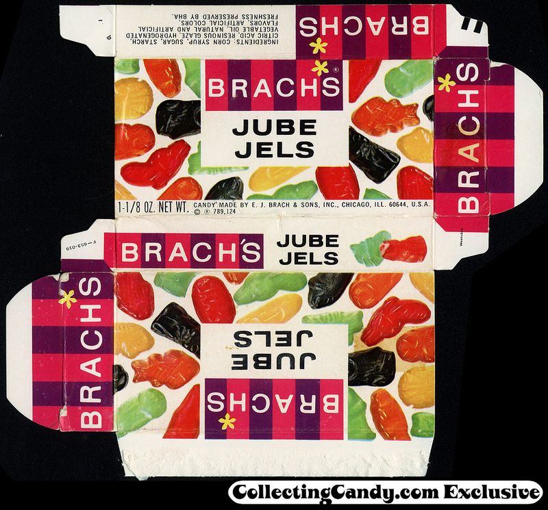 Decorative Food Boxes Interesting Brach's  Jube Jels 118 Oz Candy Box  Late 1960's  Boxing 2018