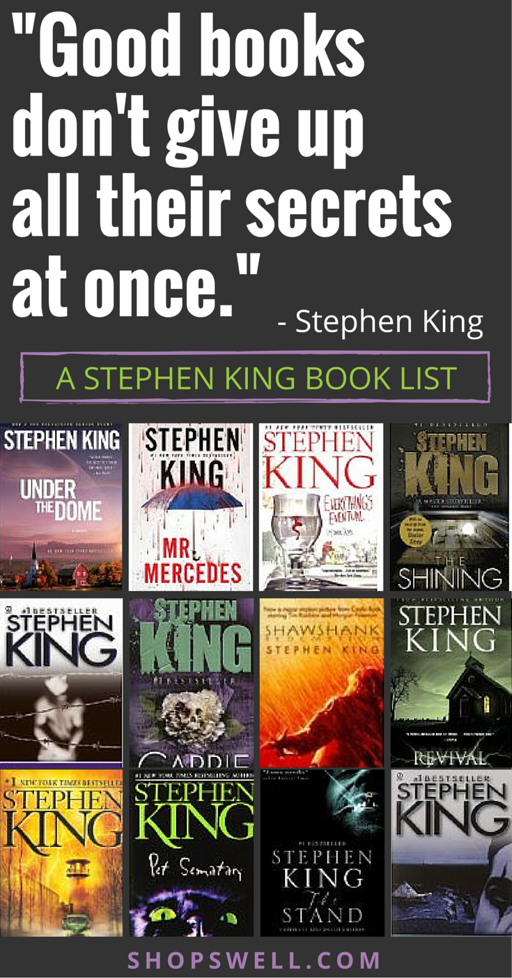 "good books don't give up all their secrets at once."" - stephen king"