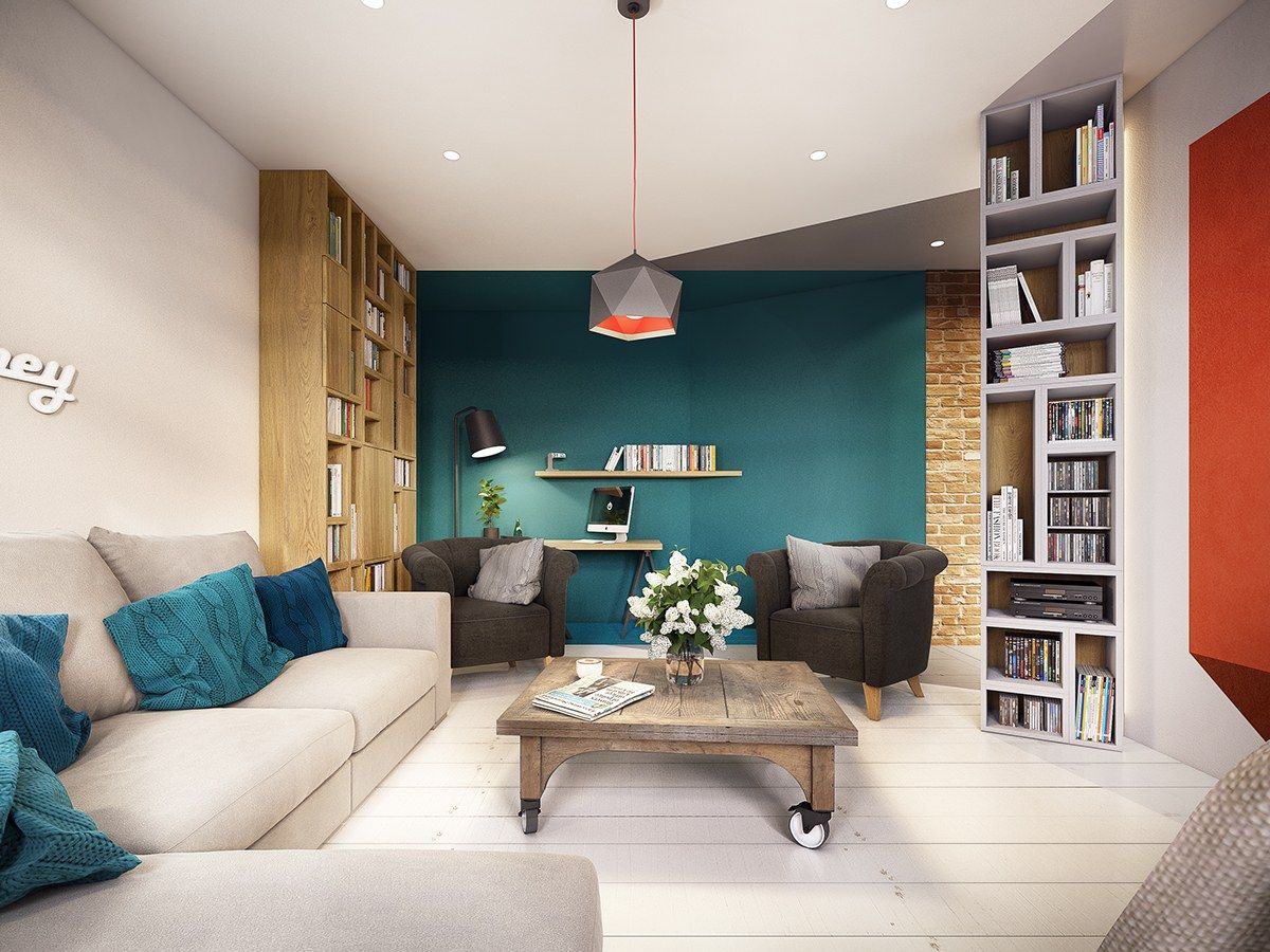 A Stunning Apartment Design Ideas With Colorful