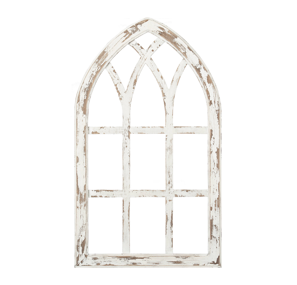 Pin By Hannah Miles On Em S Safe Space Arched Wall Decor White Windows Window Pane