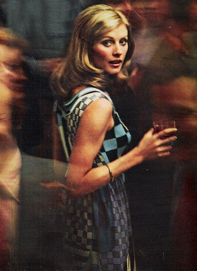 Cocktail fashion for Seventeen magazine, July 1972.