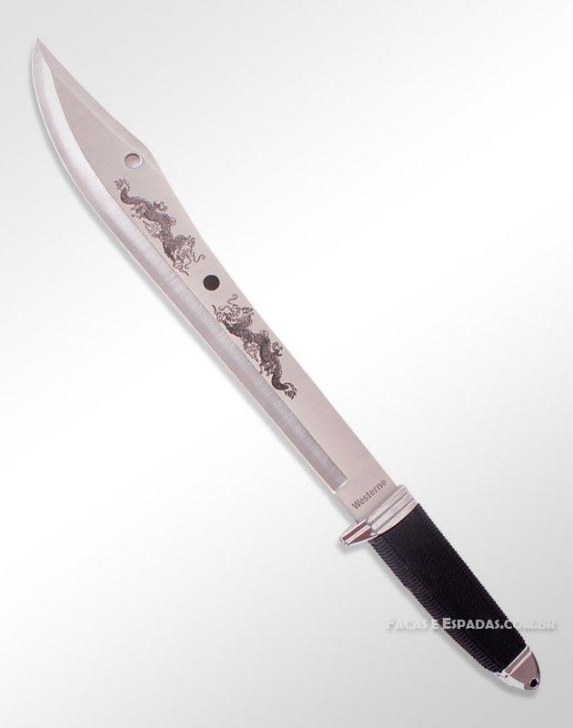 Faca-Facão Dragões Orientais Com Lâmina Longa   Sword ce81044118