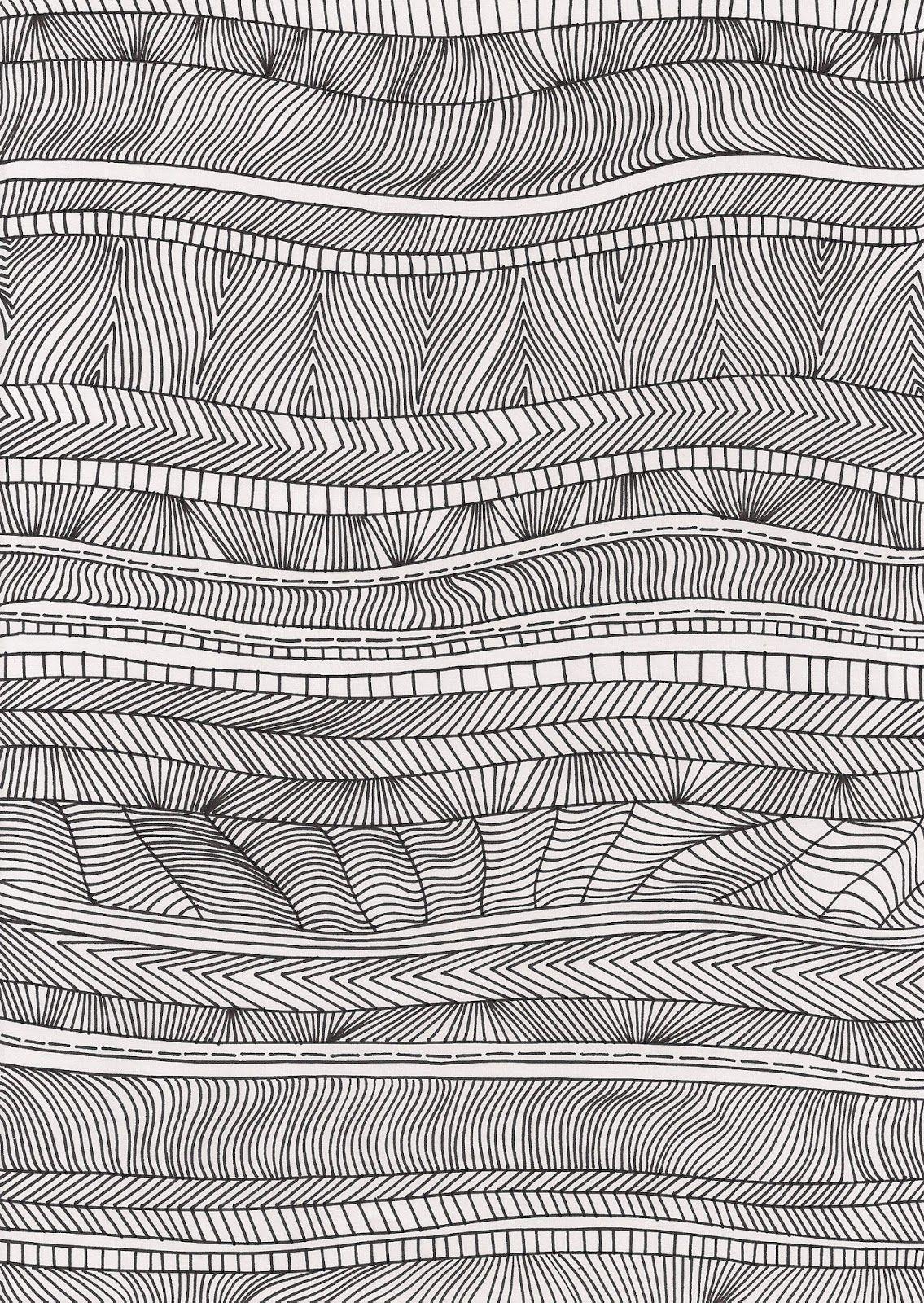 Muster Ethno Linien Dreiecke Ink Illustrations