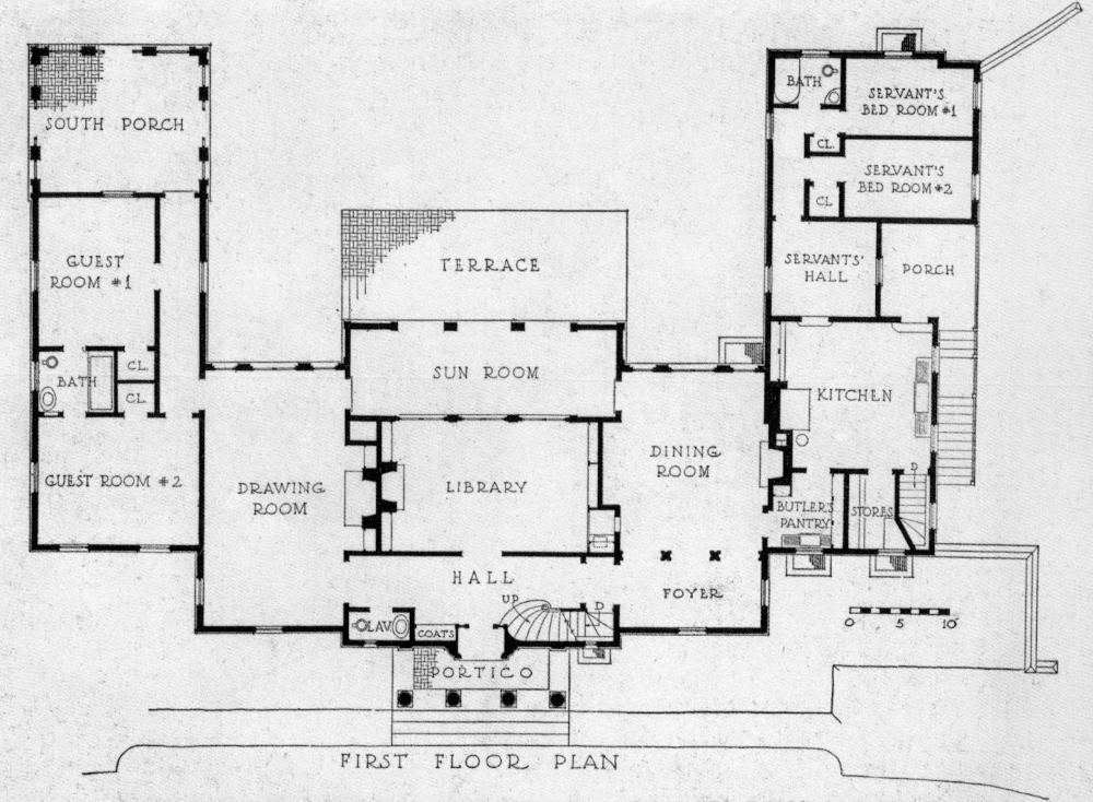 Half Pudding Half Sauce The Home Of Ernest P Davies At Roslyn N Y Mansion Floor Plan Vintage House Plans House Plans And More