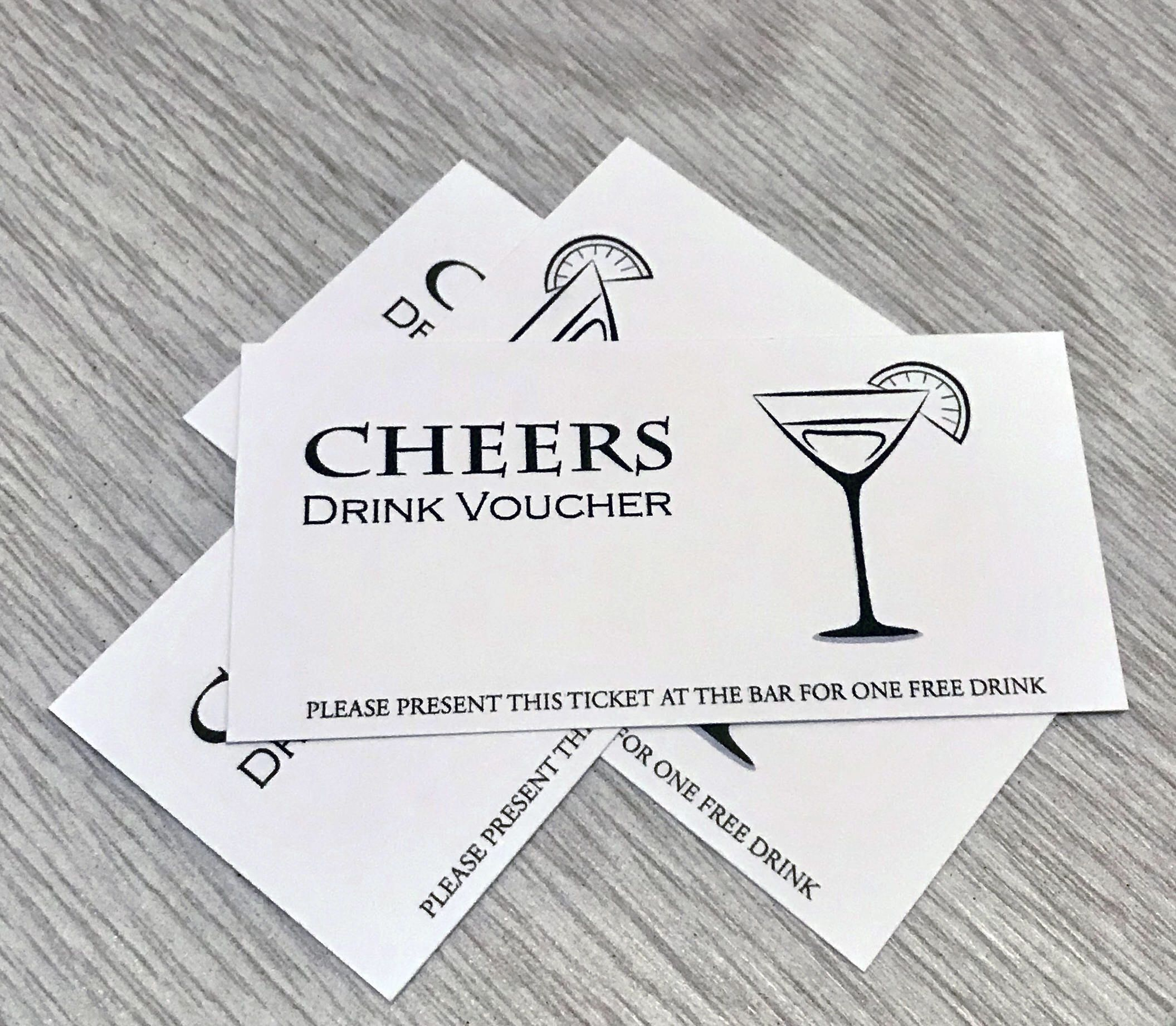 Drink Tickets For Wedding Party Events White Craft Coupon Etsy Drink Ticket Wedding Drink Tickets Coffee Wedding