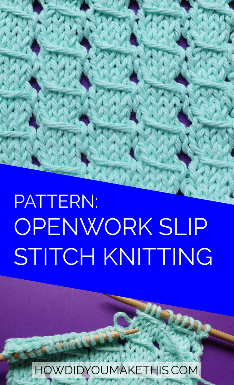 Free pattern and tutorial for this great knitting stitch!