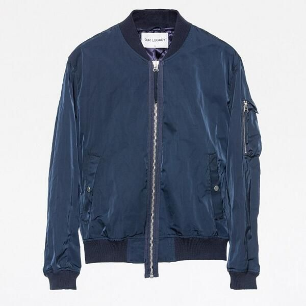 Noel Gallagher's Our Legacy Bomber Jacket Oil Blue