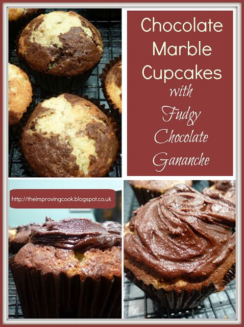 The Improving Cook: Chocolate Marble Cupcakes with Fudgy Chocolate Ganache. This…