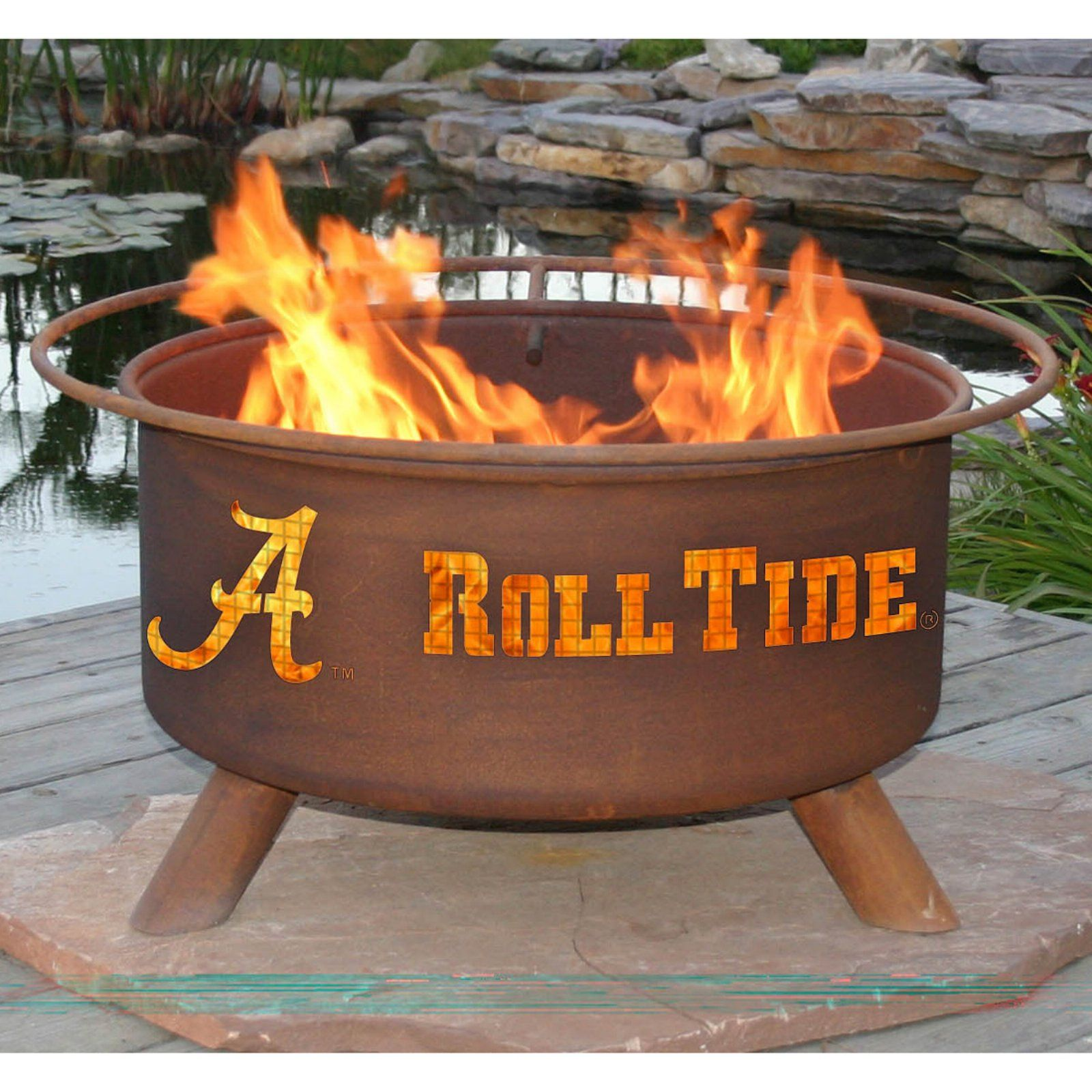 Patina College Sports 31 Diam Fire Pit With Grill And Free Cover