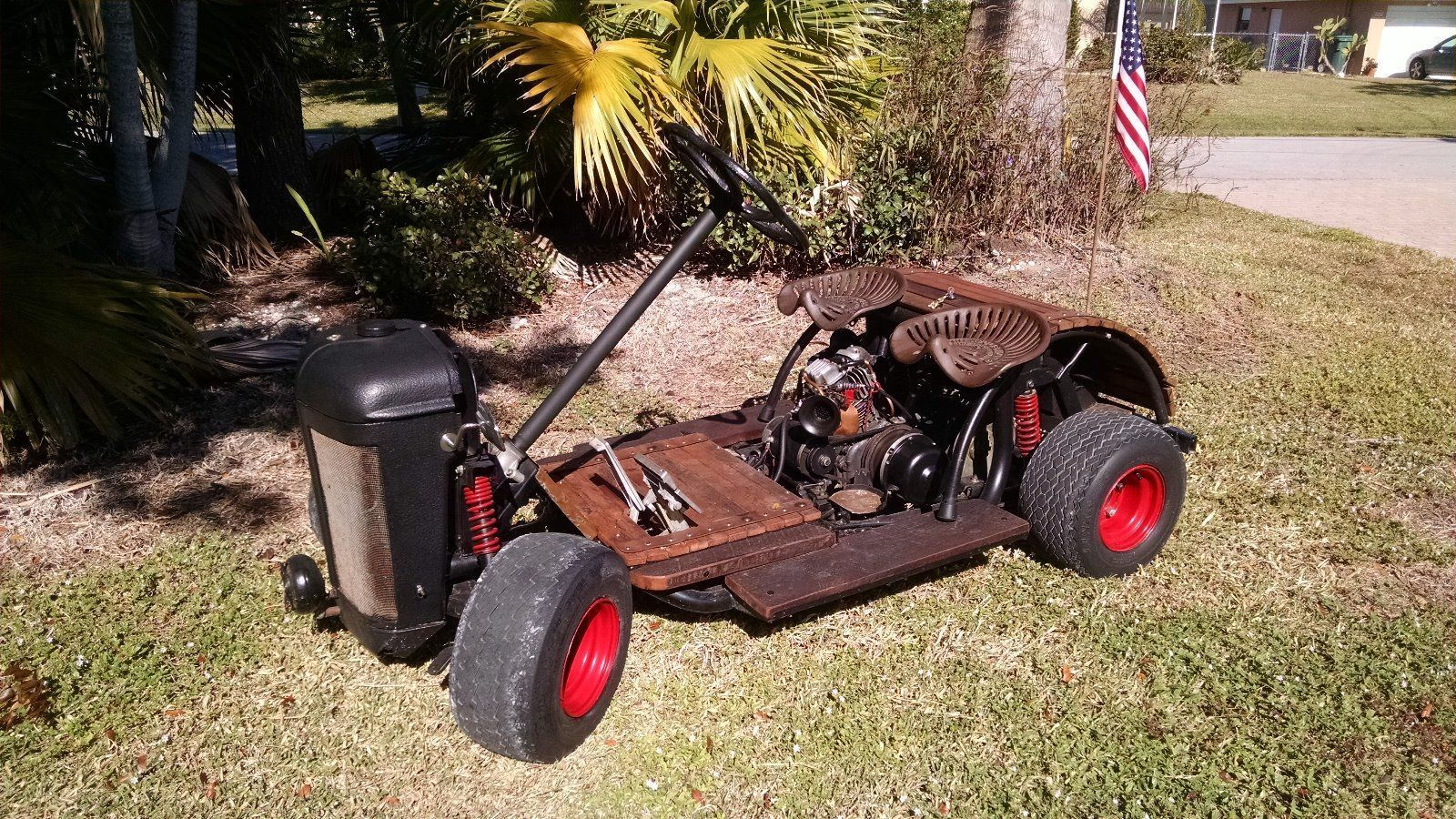 Http Www Ebay Com Itm Rat Rod Golf Cart Custom Yamaha Gas Powered One Off 371610873120